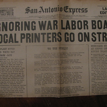 August 27, 1945 Neaspaper