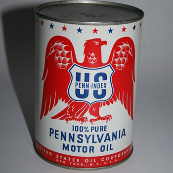 us penn-index oil can - Petroliana