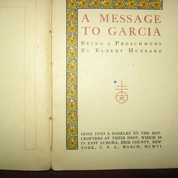 Roycroft ..Message to Garcia in Japanese