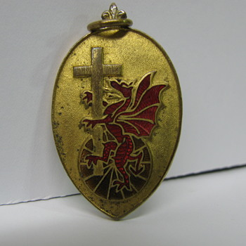 Dragon and Cross,unidentified English medallion' - Medals Pins and Badges