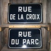 France Porcelain Enamel Street Sign x 2
