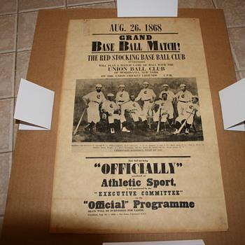 1868 baseball poster - Baseball