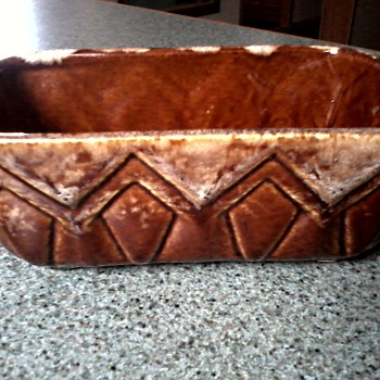 Brush (McCoy) Brown Drip Glaze Planter/ Marked A 107-7 / Circa 1960-70 - Pottery