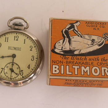 Aristocrat Clock Co. Biltmore Watch - Pocket Watches