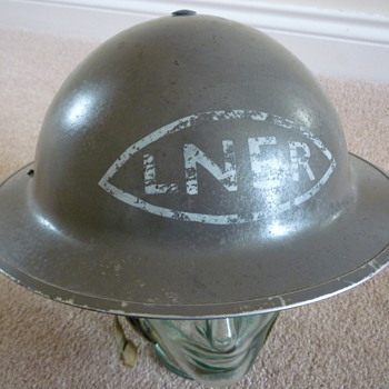The London & North Eastern Railway (LNER) steel helmet.
