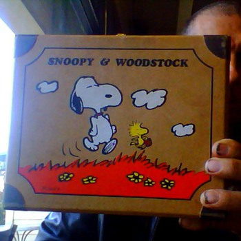 snoopy lunch box 1974 paper