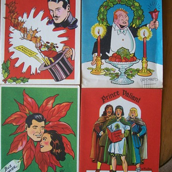 1951 King Features Syndicate Christmas Cards - Cards