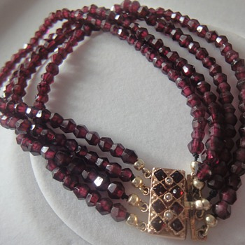 Victorian garnet bracelets