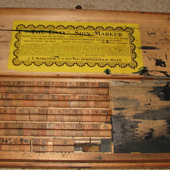 Antique Printing/Sign Marker Kit - Office