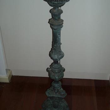 floor standing brass candlesticks