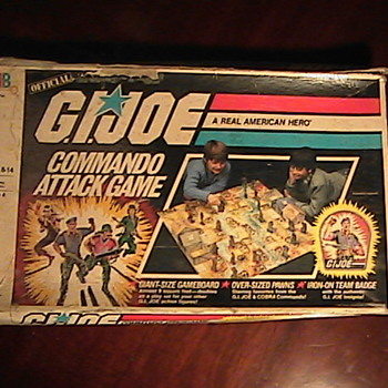 G.I. Joe Commando Attack Game Hasbro 1985 Milton Bradley Board Game 