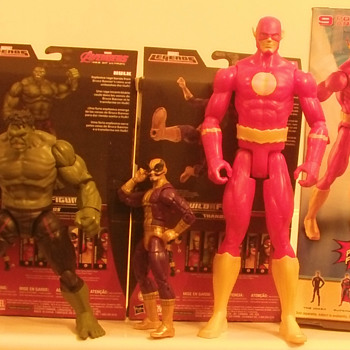 Added Marvel Legends Avengers Hulk and Batroc andD.C.comics 12 inch  the Flash