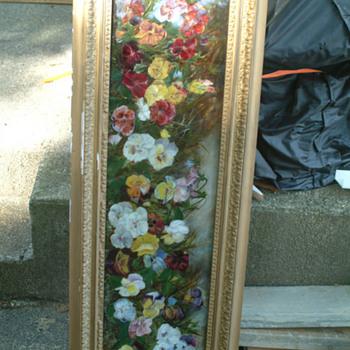 Reversal painting on glass - Art Glass