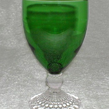 Anchor Hocking Emerald Green Burple Goblet