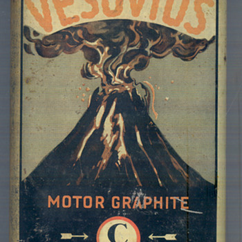 Rare Vesuvius motor graphite  - Advertising