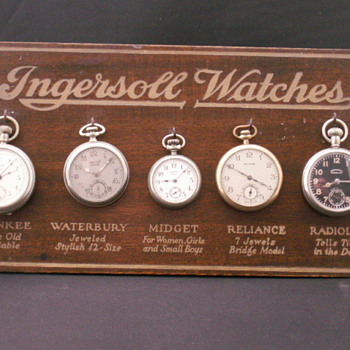 Ingersoll Display Board - Pocket Watches