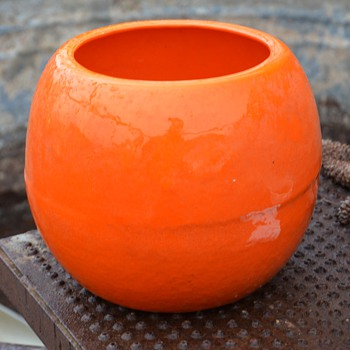 Giant Ceramic Orange - Art Pottery
