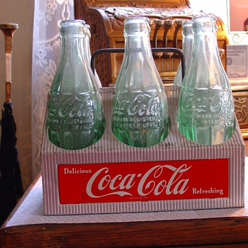 CocaCola...Six Pkg. Carrier... With Bottles - Coca-Cola