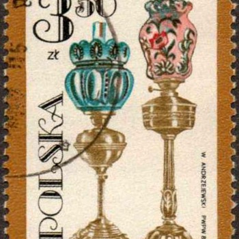 "Poland - ""Oil Lamps"" Postage Stamp"