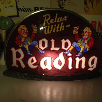 Old Reading Beer Gillco Taxi Cab Light - Breweriana
