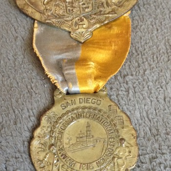 Rare 1916 Panama Ca International Exposition Medal
