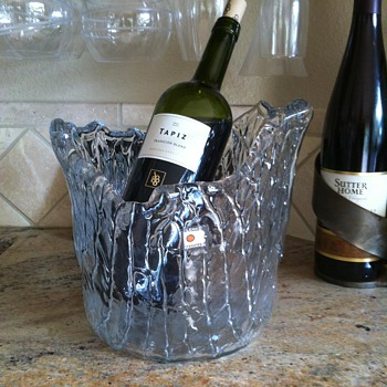 Blenko Wine Chiller Ice Bucket - Art Glass