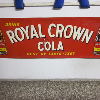 Royal Crown Cola Tin Sign Dated 1951 - Advertising