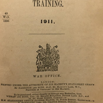 Royal Army Medical Corps Training book 1914.