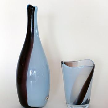 Gunnar Nylund Chimaro vases - Strömbergshyttan 1950s.