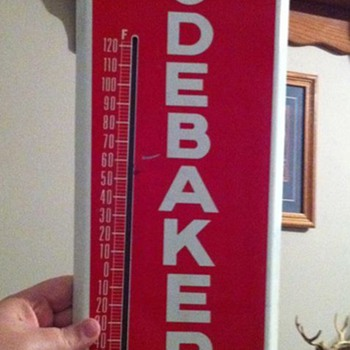 WOW! Studebaker thermometer!! - Signs