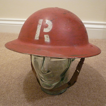 British WW11 Civil Defence Fire and Rescue helmet - Military and Wartime