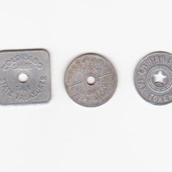 State Sales Tax Tokens - US Coins