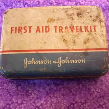 Old Johnson and Johnson First and Kit with all kinds of the old supplies