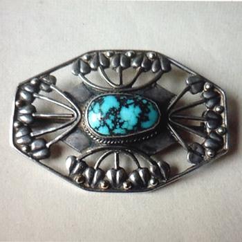 Art Nouveau brooch - Art Nouveau
