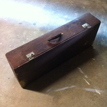 Wooden cane box.