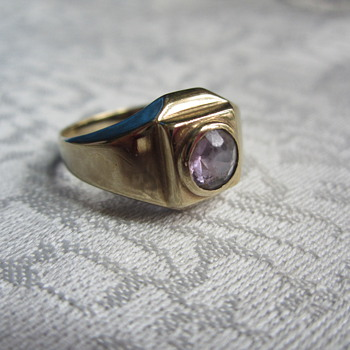 Simple Amethyst Ring