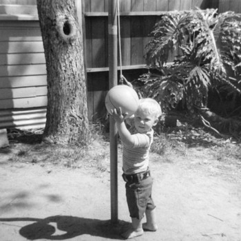 "When kids played outside  ""Tetherball "" I loved this game"