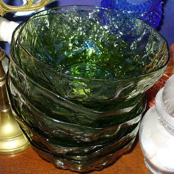 Anchor Hocking Milano Lido Avocado Glass