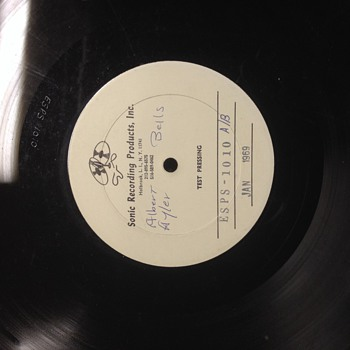 "Test pressing ""Bells"" by Albert Ayler 1969"