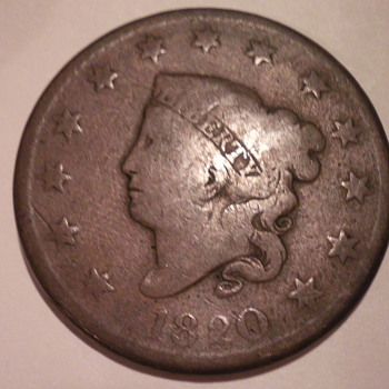 1820 Large penny - US Coins