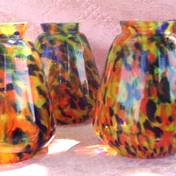 RUCKL PIERROT LAMP SHADES - Art Glass