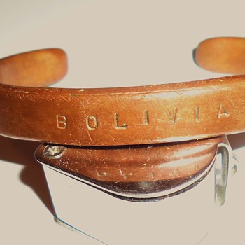 Bolivia Copper bracelet early 1980's I bought for use like brass knuckles and arthritis!! - Costume Jewelry