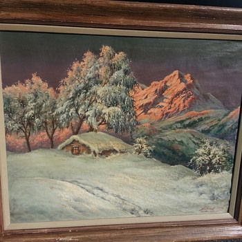 KIENTAL SOUTHWEST ALPS PAINTING