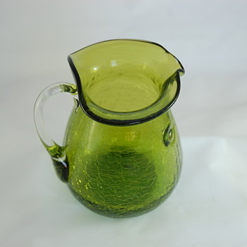 Crackle Glass Pitcher