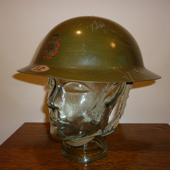 British WWII National Fire Service steel helmet 1941 - Military and Wartime
