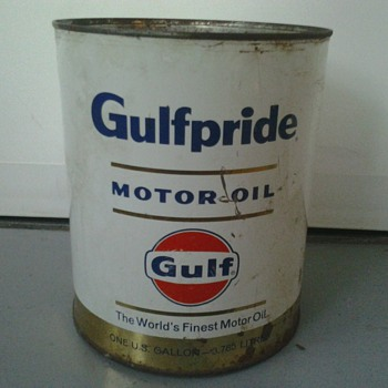 Gulfpride Oil Can by Gulf (1 Gallon)