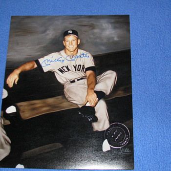 1980 Original Ray Gallo Photo of Mickey Mantle and Autographed