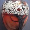 Orient & Flume 1984 hawthorn art glass vase / paperweight by Bruce Sillars
