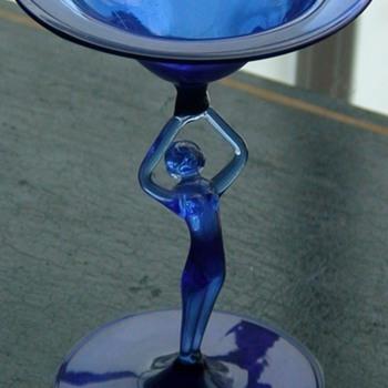 Blue Art Glass Nymph - Art Glass