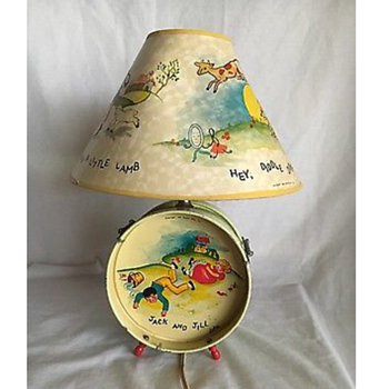Estate sale find! Vintage nursery rhyme lamp
